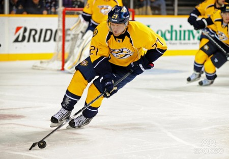 Patric Hornqvist led the Predators with 2 goals as Nashville defeated the Capitals 4-3 in a shootout. photo by