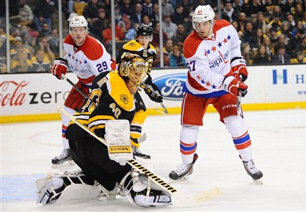 Tuukka Rask stopped all 16 shots as the Bruins shut out the Capitals 3-0. photo by Brian Babineau