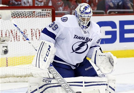 Anders Lindback stopped every shot he faced and shut out the Caps 1-0 in a shootout. photo by the Canadian Press
